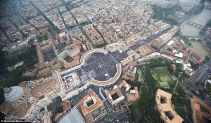 The largest crowd in Vatican history: Well over 1 million people (click to enlarge)