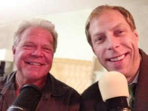 Bear Wosnick (left) interviews Patrick Novecosky on Deep Adventure Radio