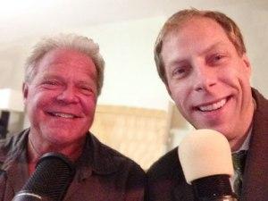 Bear Wosnick (left) interviews Patrick Novecosky on Deep Adventure Radio
