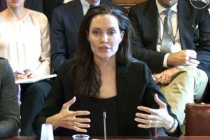 ANGELINA JOLIE testifies before the House of Lords in London on Sept. 8, 2015